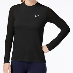 Nike Dry Miler Running Top Black